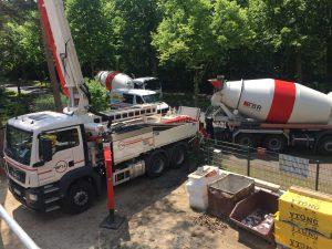 TRABET Beton wird geliefert