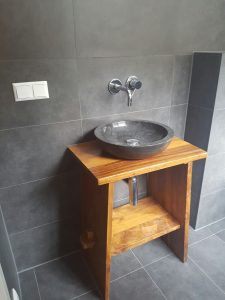 Gäste WC - Einbau Waschtisch durch Sanitärfirma Zache GmbH